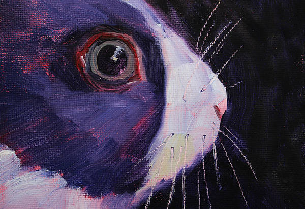 Wall Art - Painting - Bunny Thoughts by Nancy Merkle