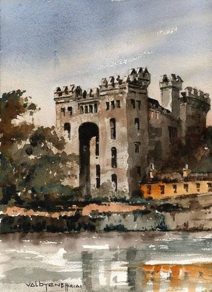 Painting - Clare  Bunratty Castle   Nr Ennis by Val Byrne