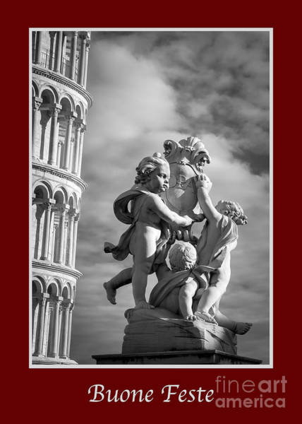 Photograph - Buone Feste With Fountain Of Angels by Prints of Italy