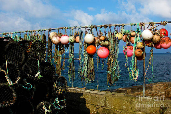 Sennen Cove Photograph - Buoys And Pots In Sennen Cove by Terri Waters