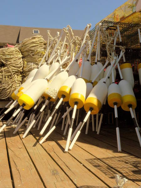 Bailey's Beach Photograph - Buoys Galore by Spindrift Photography