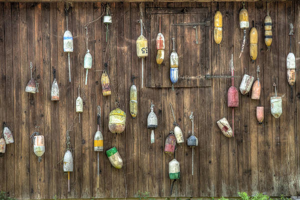 Photograph - Buoys On The Barn. Things You Might See In The Country - Americana by Gary Heller