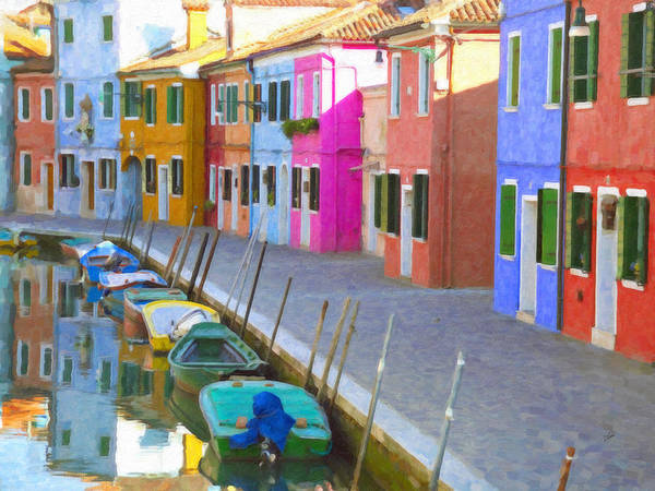 Painting - Burano District Venice Italy by Dean Wittle