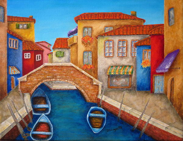 Terracotta Painting - Burano by Pamela Allegretto