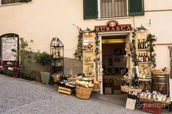 Photograph - Burasca Shop Of Manarola by Prints of Italy