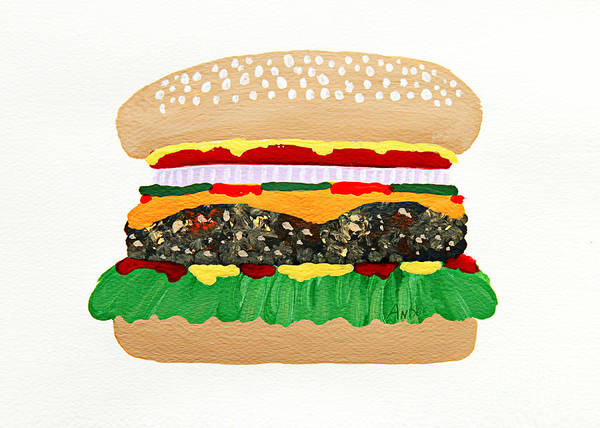 Painting - Burger Me by Andee Design