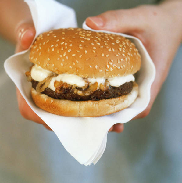 Foodstuff Photograph - Burger by William Lingwood/science Photo Library