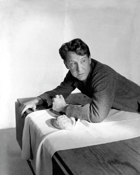 Bread Photograph - Burgess Meredith Eating A Loaf Of Bread by Horst P. Horst