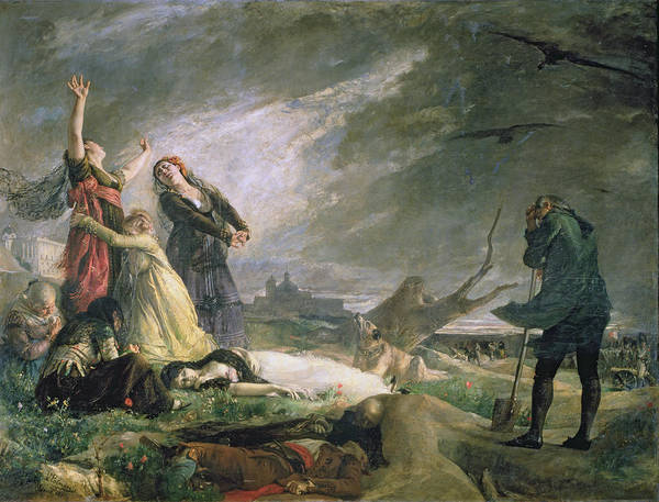 Anguish Photograph - Burial At La Moncloa In May 1808 Oil On Canvas by Vincente Gonzalez Palmaroli