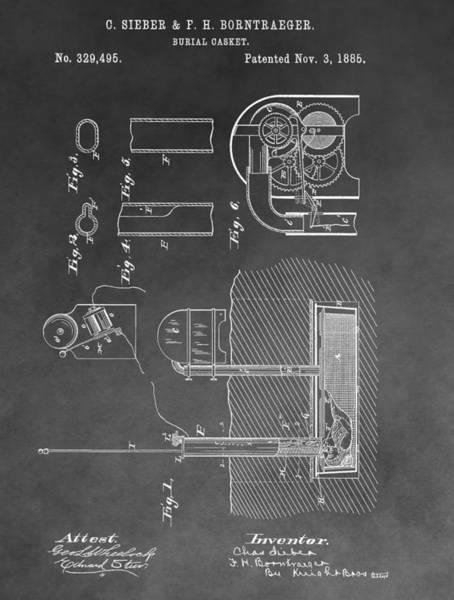 Drawing - Burial Casket by Dan Sproul