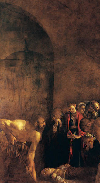 Caravaggio Painting - Burial Of St Lucy by Caravaggio