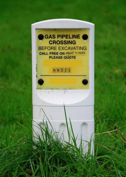 Buried Wall Art - Photograph - Buried Gas Pipeline Marker by Cordelia Molloy