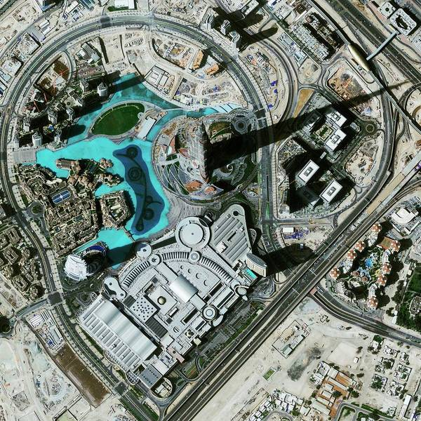Mall Photograph - Burj Khalifa by Geoeye/science Photo Library