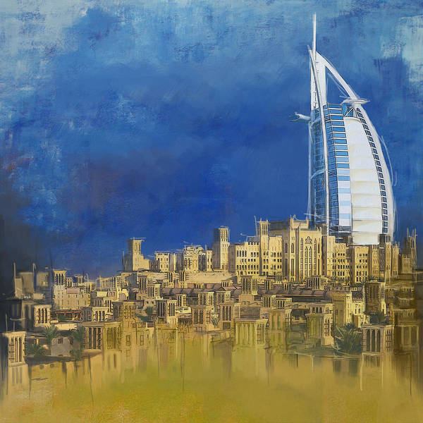 Wall Art - Painting - Burj Ul Arab Contemporary by Corporate Art Task Force