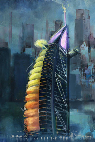 Tall Buildings Painting - Burj Ul Arab  by Corporate Art Task Force