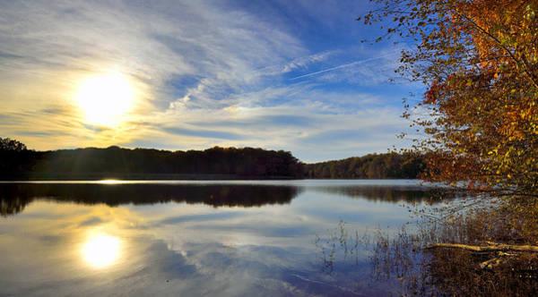 Wall Art - Photograph - Burke Lake Park At Dusk - Virginia by Brendan Reals