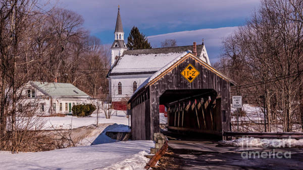 Photograph - Burkeville Covered Bridge.  by New England Photography