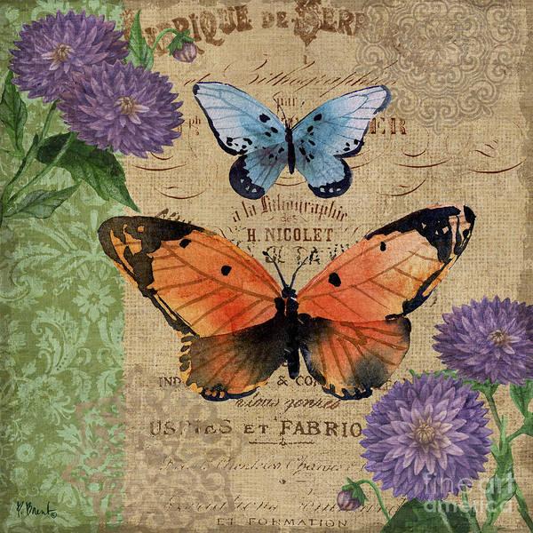 Burlap Painting - Burlap Butterflies II by Paul Brent