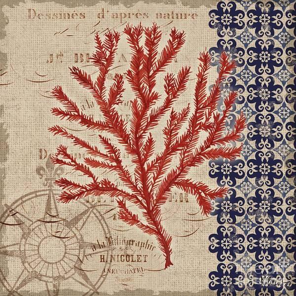 Burlap Painting - Burlap Coral II by Paul Brent