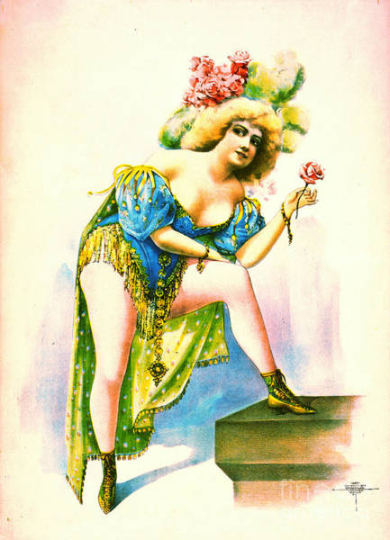 Burlesque Dancer Photograph - Burlesque Queen 1899 by Padre Art