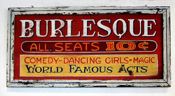 Photograph - Burlesque Seats 10c by Richard Reeve