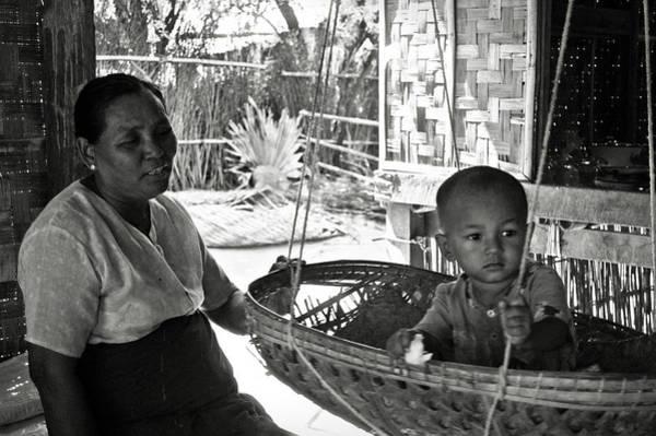 Photograph - Burmese Grandmother And Grandchild by RicardMN Photography