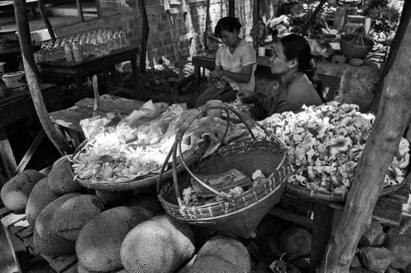 Photograph - Burmese Market Bw by RicardMN Photography