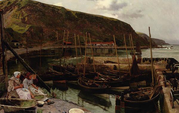 Dingy Digital Art - Burmouth Berwickshire by Charles William Hemy