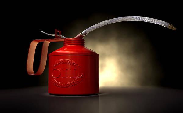 Burn Digital Art - Burn The Midnight Oil Can by Allan Swart