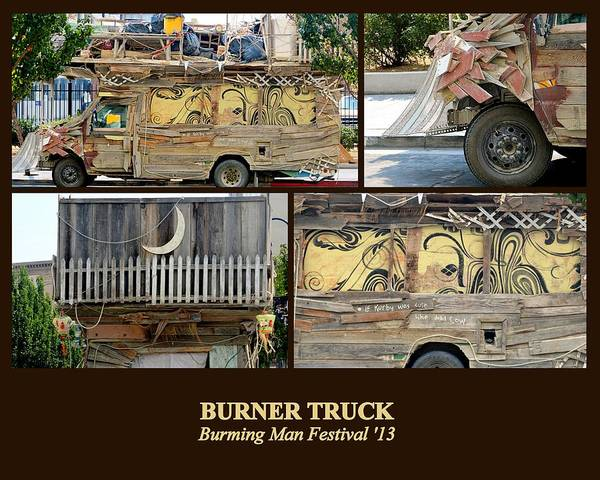 Photograph - Burner Truck by AJ  Schibig