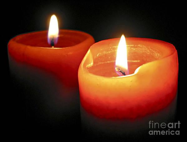 Burnt Orange Photograph - Burning Candles by Elena Elisseeva