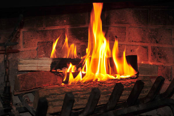 Fuel Element Photograph - Burning Fire At Fireplace by Anton Oparin