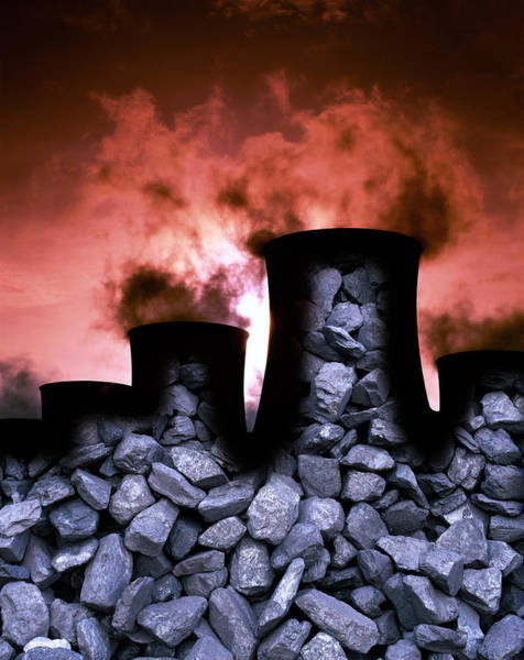 Fossil Fuel Photograph - Burning Fossil Fuel by Martin Bond/science Photo Library