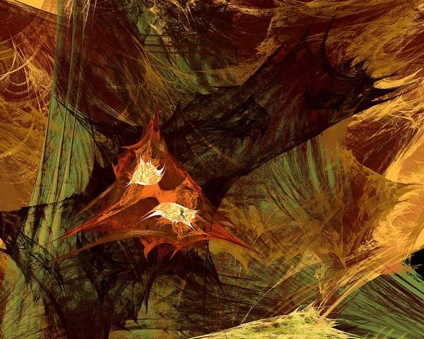 Sascha Wall Art - Digital Art - Burning Fractal by Sascha Henn