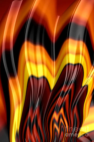 Flames Digital Art - Burning by John Edwards