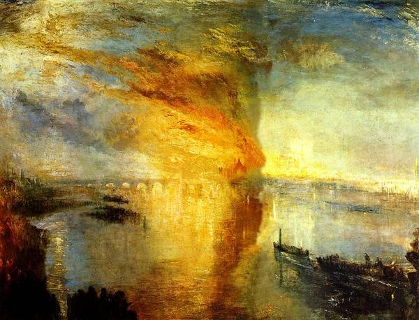 Wall Art - Painting - Burning Of The House Of Lords And Commons by Joseph Mallard William Turner
