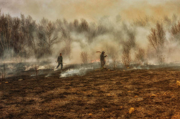 Washington County Wall Art - Photograph - Burning The Fields by Susan Capuano