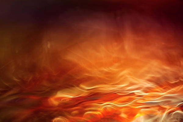 Abstract Smoke Photograph - Burning Water by Willy Marthinussen