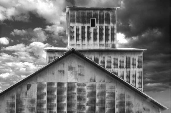 Photograph - Burns Elevator South Side Bw by Rod Seel