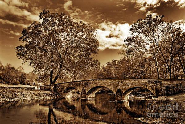 Burnside Bridge Photograph - Burnside Bridge At Antietam - Toned by Paul W Faust -  Impressions of Light