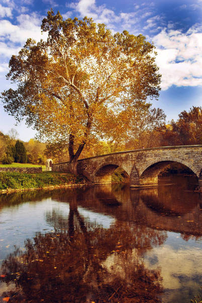 Burnside Bridge Photograph - Burnside Bridge At Autumn Sunset by Paul W Faust -  Impressions of Light