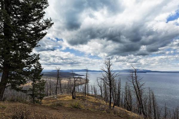 Photograph - Burnt Beauty Over Yellowstone Lake - Yellowstone by Belinda Greb