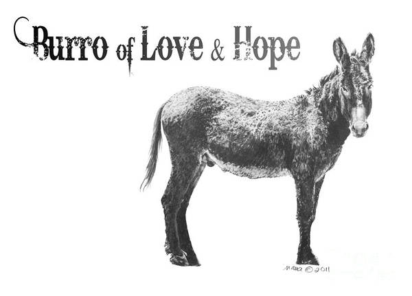 Digital Art - Burro Of Love And Hope by Marianne NANA Betts