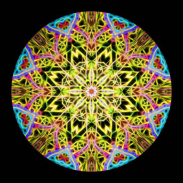 Photograph - Burst Of Joy Mandala by Beth Sawickie