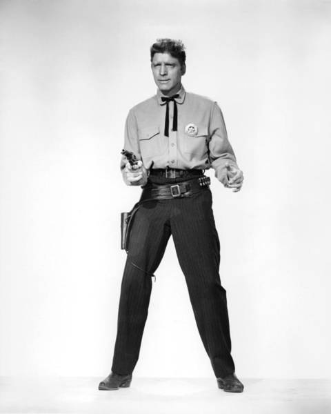 Gunfight Wall Art - Photograph - Burt Lancaster In Gunfight At The O.k. Corral  by Silver Screen