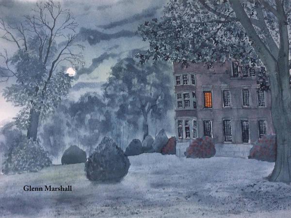 Painting - Burton Agnes Nocturne by Glenn Marshall