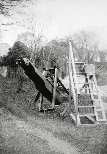 Ladders Photograph - Burton's Telescope by Royal Astronomical Society/science Photo Library