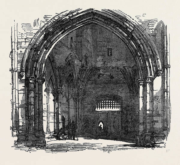 Bury St Edmunds Drawing - Bury St. Edmunds Interior Of The Abbey Gate 1867 by English School