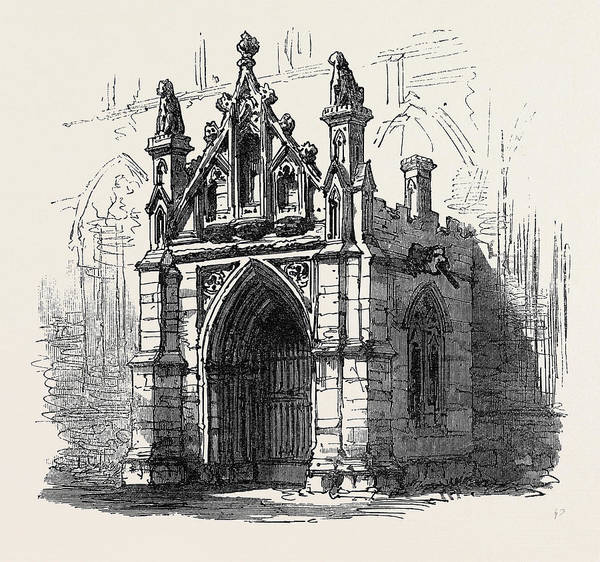 Bury St Edmunds Drawing - Bury St. Edmunds Porch Of St by English School