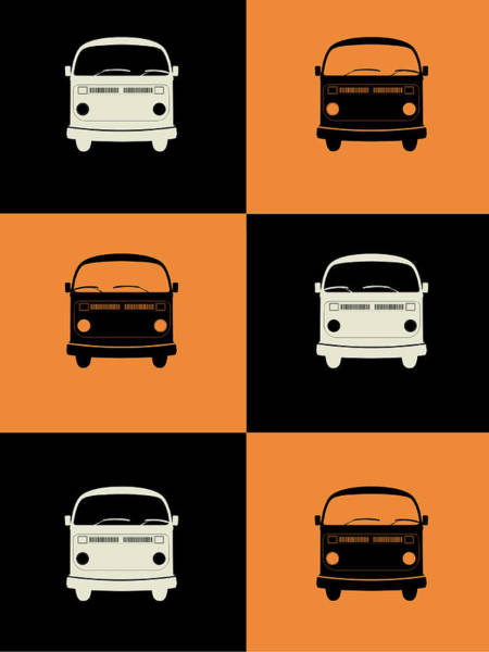 Amusing Wall Art - Digital Art - Bus Poster by Naxart Studio